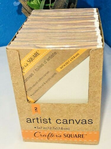 """6pk White Cotton Stretched Art Canvas Panel 5""""x7"""" Painting Supplies Acrylic Oil"""
