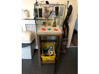 60L fish tank stand and all extras in pictures