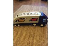 Little tykes large car transporter 2 cars