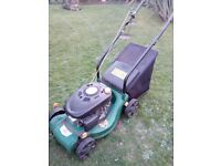 Lawn more and hedge trimmer