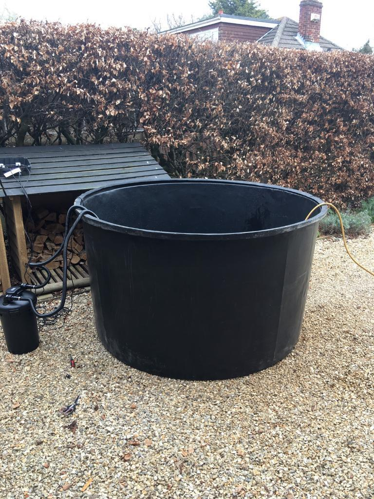 1000 gallon free standing pond holding quarantine tank for Koi quarantine pond