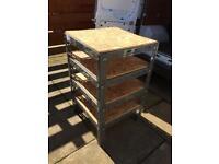 Steel framed Storage Rack/ work bench