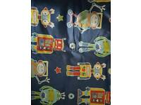 Boys bedroom curtains, single cover x2 lamp and light shade