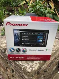 Pioneer AVH-2400BT,Double-Din Bluetooth AV Player, 5.8-inch Screen, iPod / iPhone Control