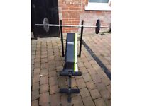 York Fitness bench press weights bench