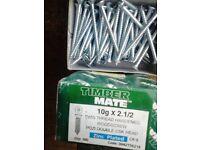 BOX OF TIMBER MATE 10gx2 1/2 twin thread hardened wood screws