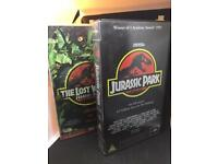 Jurassic Park and The Lost World VHS Cassette Tapes