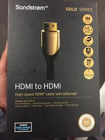 Sandstrom Gold series HDMI TO HDMI LEAD