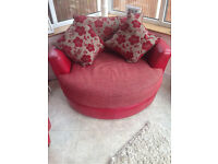 Round Swivel Chair with matching Square Chair