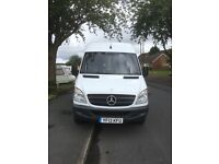 MERCEDES SPRINTER LWB 2013 WHITE VAN 07478708154 SALE OR SWAP FOR RED VAN ONLY.