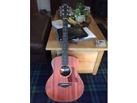 Taylor GS Mini Acoustic Guitar with Mahogany Top + Pickup +Case