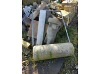 Heavy garden roller