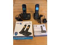 BT XD56 Twin Digital cordless phones with Answer Machine - Excellent Condition
