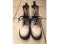 White Doc Martens size 4