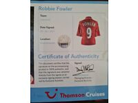 Liverpool fc signed robbie fowler top.