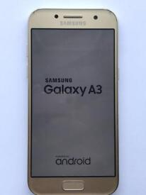 Samsung Galaxy A3 2017 - Unlocked - with charger and case