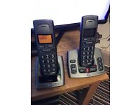 BT freestyle duo cordless phones with answer phone