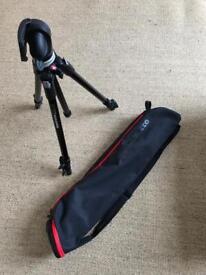 Manfrotto camera tripod 190XDB & carry case