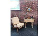 Vintage Scandinavian Style OAK Console Table Hall Sideboard RRP £475