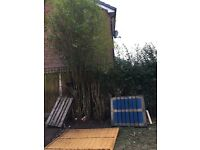 Free 2 wood pallets Blackburn and table