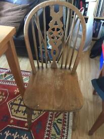4 solid chairs