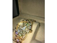 Rolex Daydate Fully Iced Out Watch
