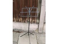 Music stand made of metal and black
