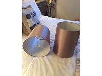 NEXT tall lampshades x 2 PERFECT CONDITION champagne / mink colour