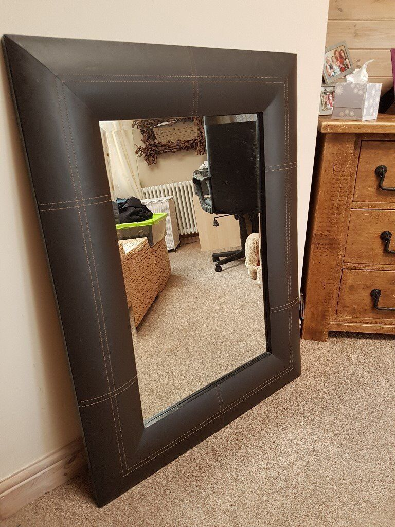 Mirror - Large Brown Leather effect £35