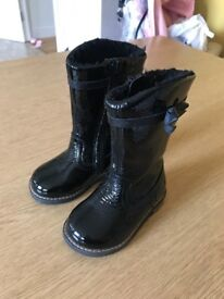 Paten leather kids boots next