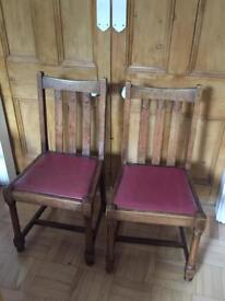 2 x Vintage Chairs located E4 I can deliver locally