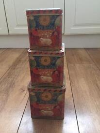 Vintage tins containers