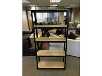 £75 for 2x HEAVY DUTY 175kg/shelf BLACK Storage shelves 180x90x30cm Metal Racking Garage delivery