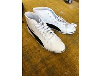 Puma high top size uk5 women's white trainers