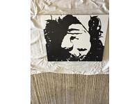 Jim Morrison hand painted canvas