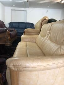 Quality second hand leather suite