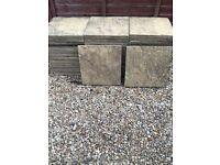 50 used garden slabs
