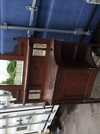 Antique hall stand with mirror