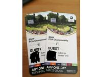 2 tickets PGA Golf Championship Wentworth - valid any day £70 the pair