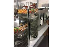 COMMERCIAL COUNTER TOP FOOD PIE HEATED HOT WARMER CABINET SHOWCASE DISPLAY