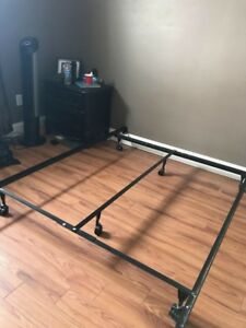 Double / Queen bed frame on wheels