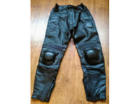 Genuine Frank Thomas black leather trousers.