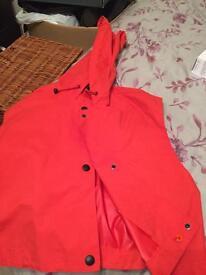 Coral / orange red waterproof jkt