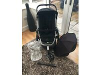 Quinny Buzz 3 in 1 Travel System Pushchair and Maxi Cosi Car Seat & Easyfix Isofix Base.