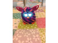 Furby Boom in Orange/Purple/Pink colors without the box