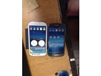 samsung galaxy s3 black & s3 white 16GB 0pen to all network -very good condition