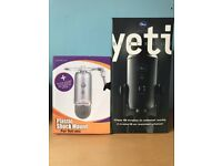 Blue Yeti Microphone Blackout Edition With Shock Mount And Pop Filter