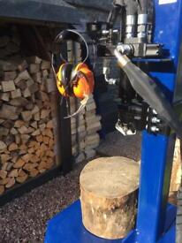 Wood splitting service.