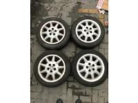 Vw polo 15'' alloy wheels with tyres
