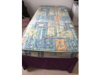 Single bed with under storage bed